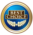 Best Choice Blue Label vector image vector image