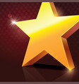 big shining golden star vector image