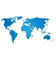 Blue silhouette of world map vector image vector image