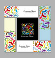 business cards design colorful abstract vector image