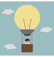 businessman on lightbulb balloon idea eps10 vector image vector image