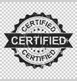 certified scratch grunge rubber stamp on isolated vector image