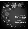 christmas black swirl background vector image vector image
