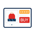 christmas online shopping concept on tablet new vector image