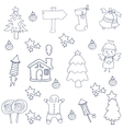 Christmas set element of doodles vector image vector image