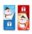 Collection of christmas gift voucher tag banner vector image vector image