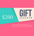 collection stock card gift voucher vector image vector image