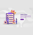 concept analytics modern conceptual for banner vector image
