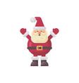 cute fat santa claus flat funny character vector image