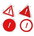 danger cartoon icon attention exclamation mark vector image
