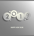 design rounds abstract new year wishes on gray vector image