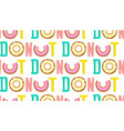 donut one word seamless pop art pattern vector image vector image
