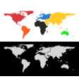 dotted halftone world map vector image