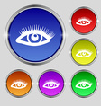 eyelashes icon sign Round symbol on bright vector image