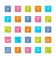 filter data icon set in flat style with shadow vector image vector image