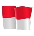 flag of Monaco vector image vector image