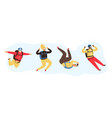 flying people characters vector image vector image