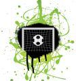 football grunge vector image vector image