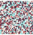 Geometric seamless pattern of triangles vector image