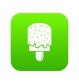 glaze ice cream icon green vector image vector image