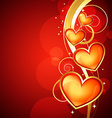 golden heart design vector image vector image