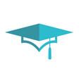 graduation hat university logo vector image vector image
