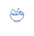 grinding spices line icon concept grinding spices vector image