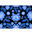 Gzhel flower seamless pattern Flowers and leaves vector image vector image