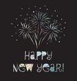 happy new year firework black vector image
