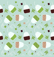 herbal tea seamless pattern background vector image