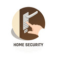 home security isometric composition vector image vector image