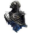 horror skeleton vector image