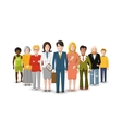 International group of people flat vector image