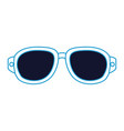 isolated vacation glasses vector image