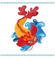 Japanese koi fish vector image vector image