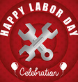 Labor day design vector image vector image