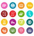 loan credit icons set colorful circles vector image vector image