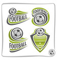 logo football ball vector image vector image