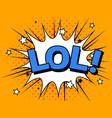 lol comic cartoon explosions vector image vector image