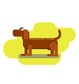 long dachshund character an isolated dog for your vector image vector image