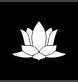 lotus flower it is icon vector image
