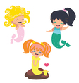 Lovely Mermaids characters vector image vector image