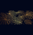 luxury gold line art and natural background vector image vector image