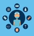 medical nurse man vector image vector image