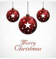 merry christmas ball background vector image vector image