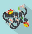 Merry X-mas Typography Design vector image vector image