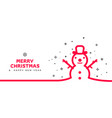 minimal line snowman background vector image vector image