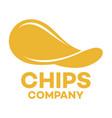 modern chips logo vector image
