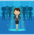 modern talent search composition vector image vector image