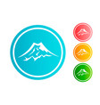 mountain circle icon set vector image vector image